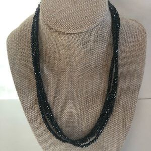 "Jewelry - 🌺 Black Spinel 18"" Triple Strand"